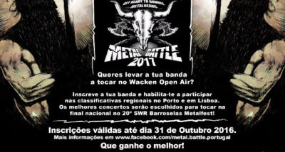 Concurso - W:O:A Metal Battle Portugal - Wacken Open Air