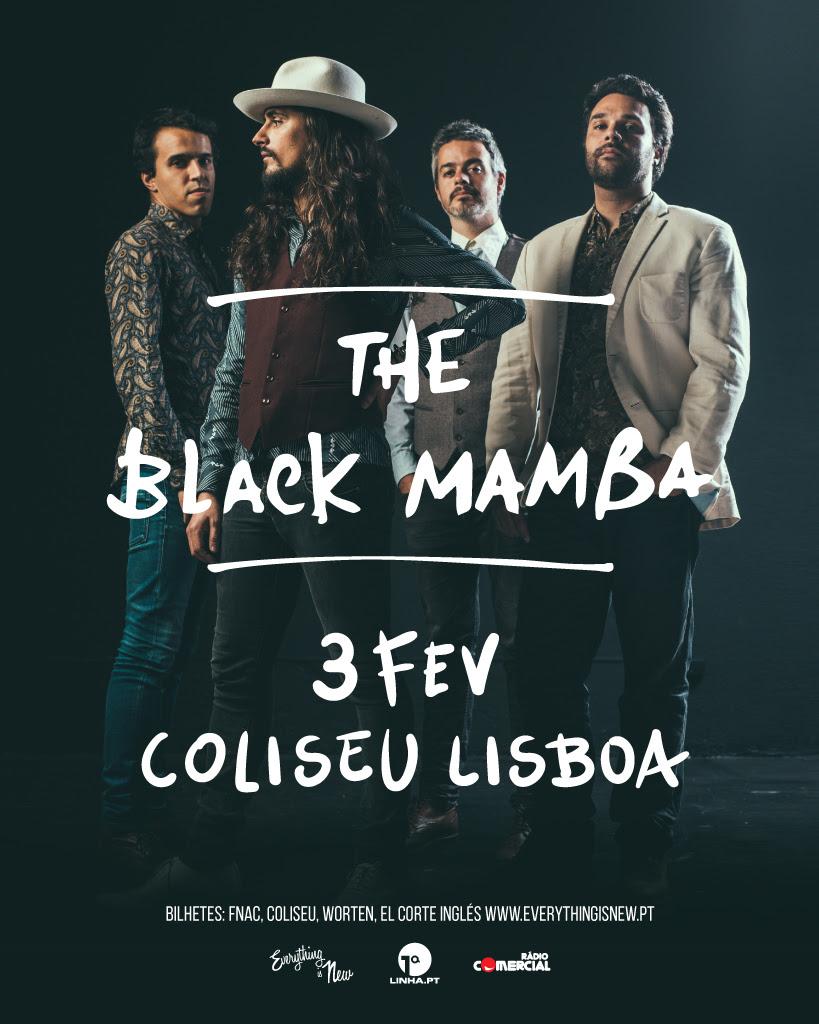 The Black Mamba - Coliseu dos Recreios - cartaz