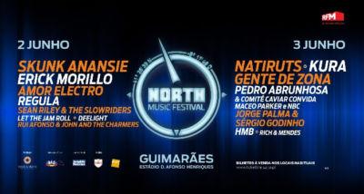 North Music Festival cartaz 2017 alinhamento