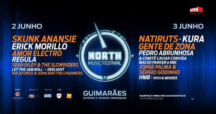 North Music Festival cartaz 2017 alinhamento