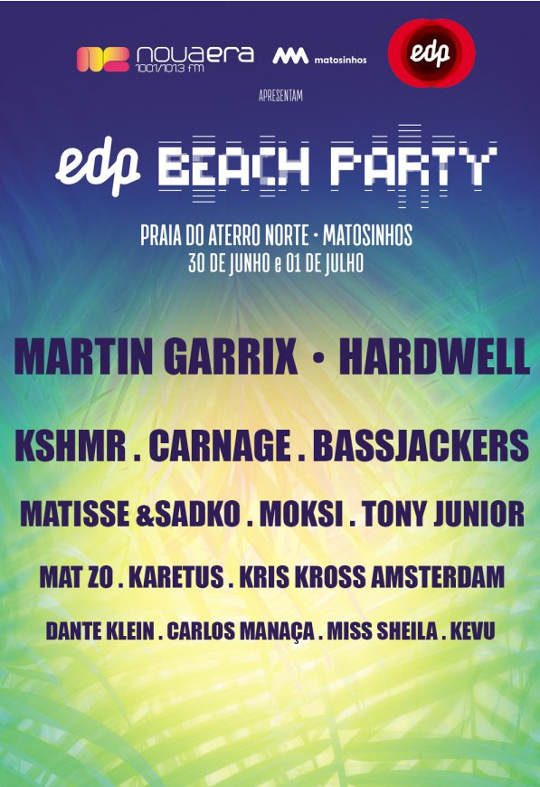 Cartaz 2017 EDP Beach Party