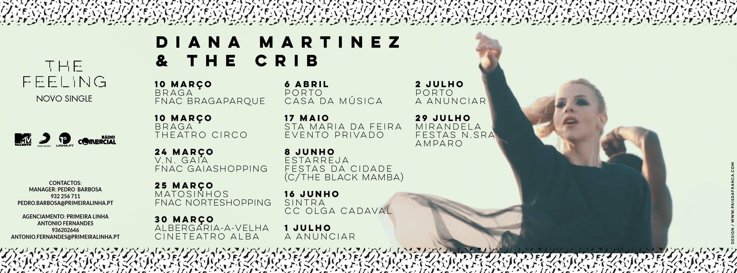 AGENDA - Diana Martinez & The Crib