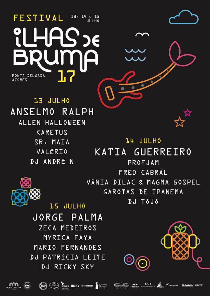 Cartaz 2017 Festival Ilhas de Bruma, Açores