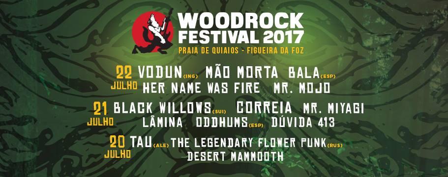 Cartaz Festival WoodRock 2017