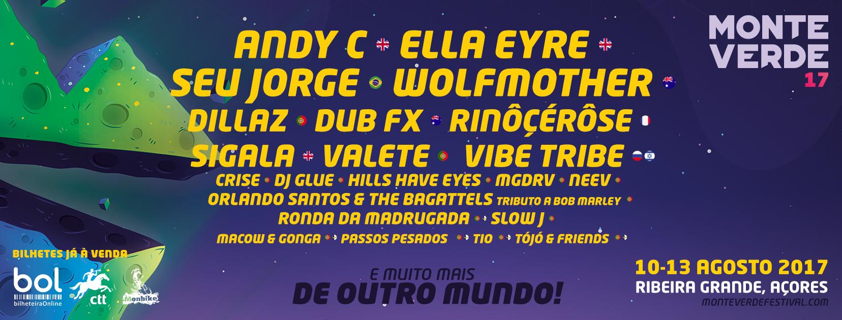 Cartaz Monte Verde Festival 2017