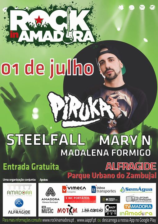 Cartaz Rock in Amadora 2017