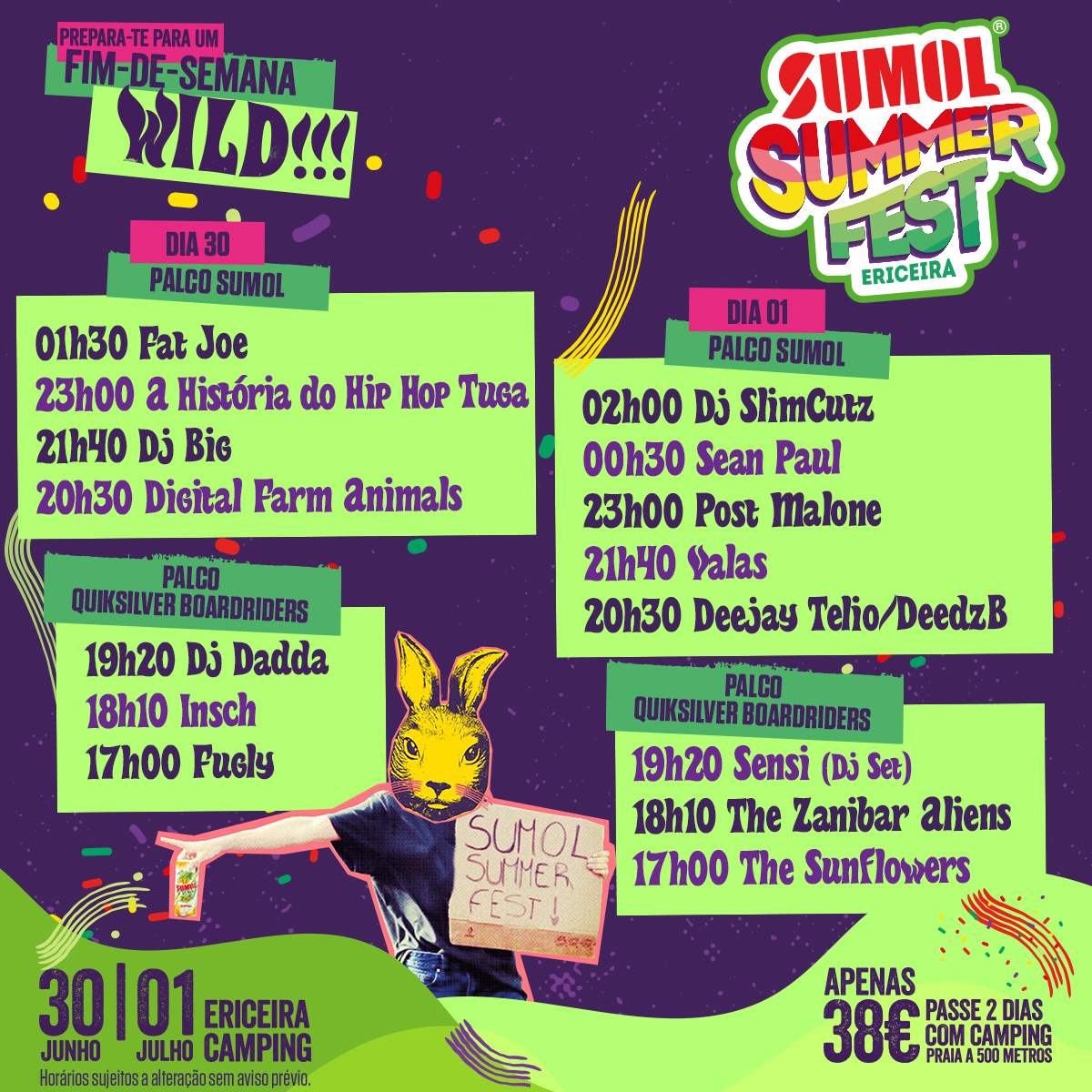 Cartaz Sumol Summer Fest 2017
