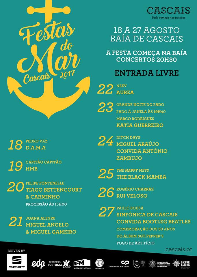 Cartaz Festas do Mar 2017