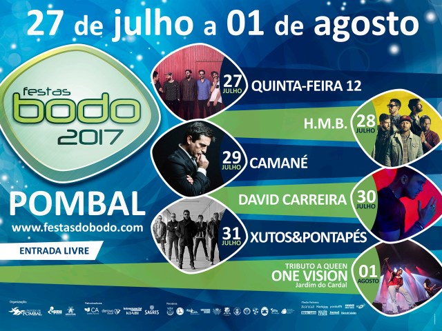 Cartaz Festas do Bodo, Pombal 2017