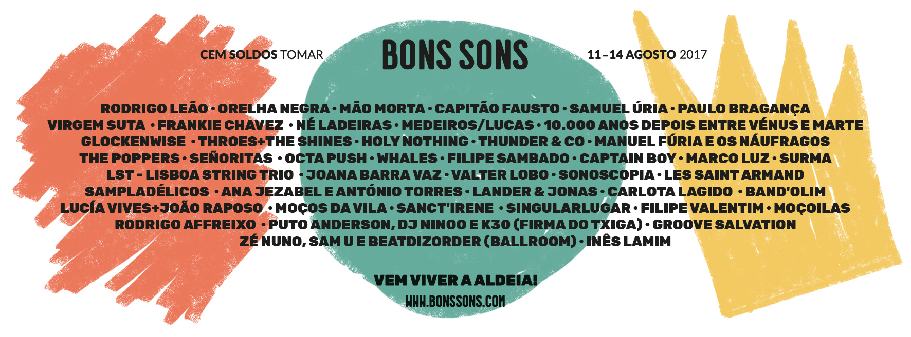 Cartaz Festival Bons Sons 2017