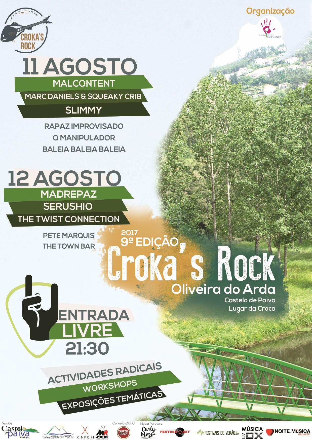 Cartaz Festival Croka´s Rock 2017
