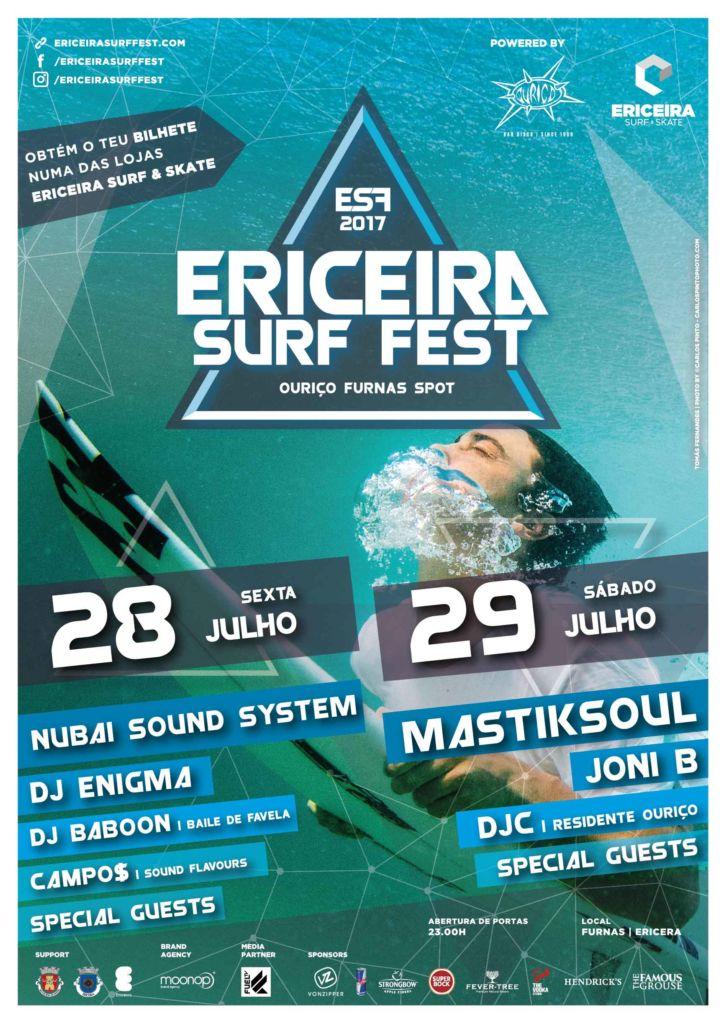 Cartaz Festival Ericeira Surf Fest 2017