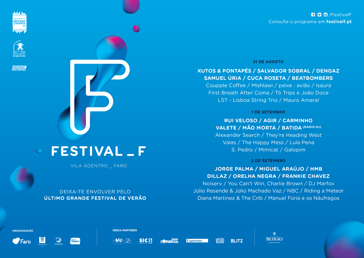 Cartaz Festival F Faro 2017