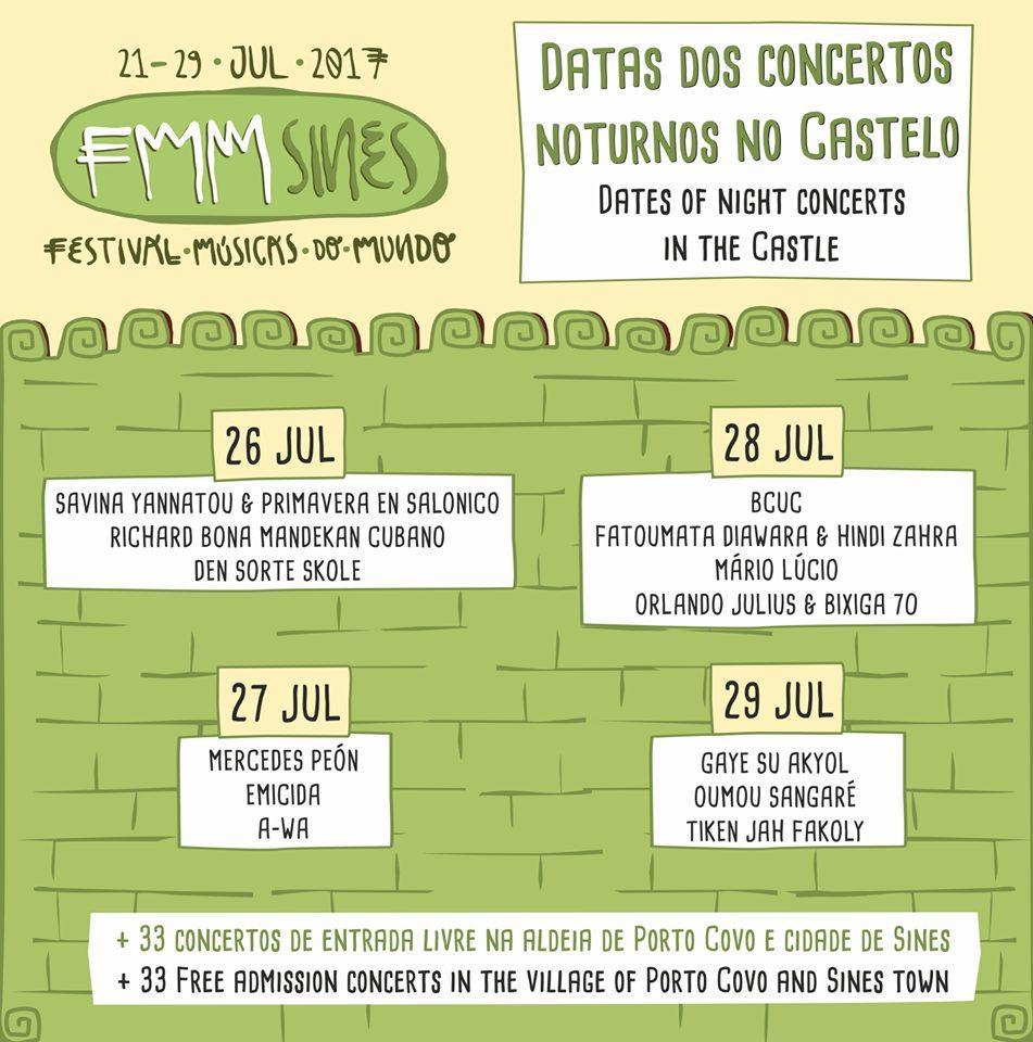 Cartaz Festival Músicas do Mundo 2017
