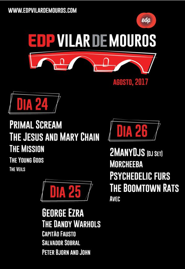 Cartaz Festival Vilar de Mouros 2017