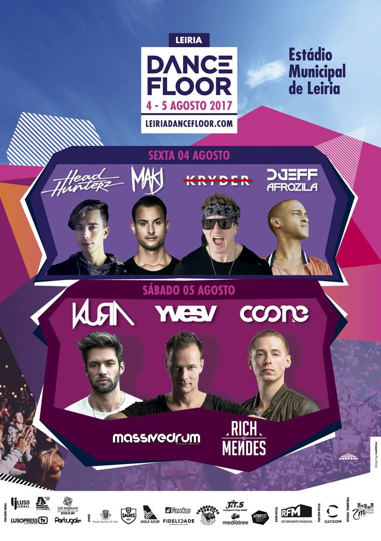 Cartaz Leiria Dancefloor 2017