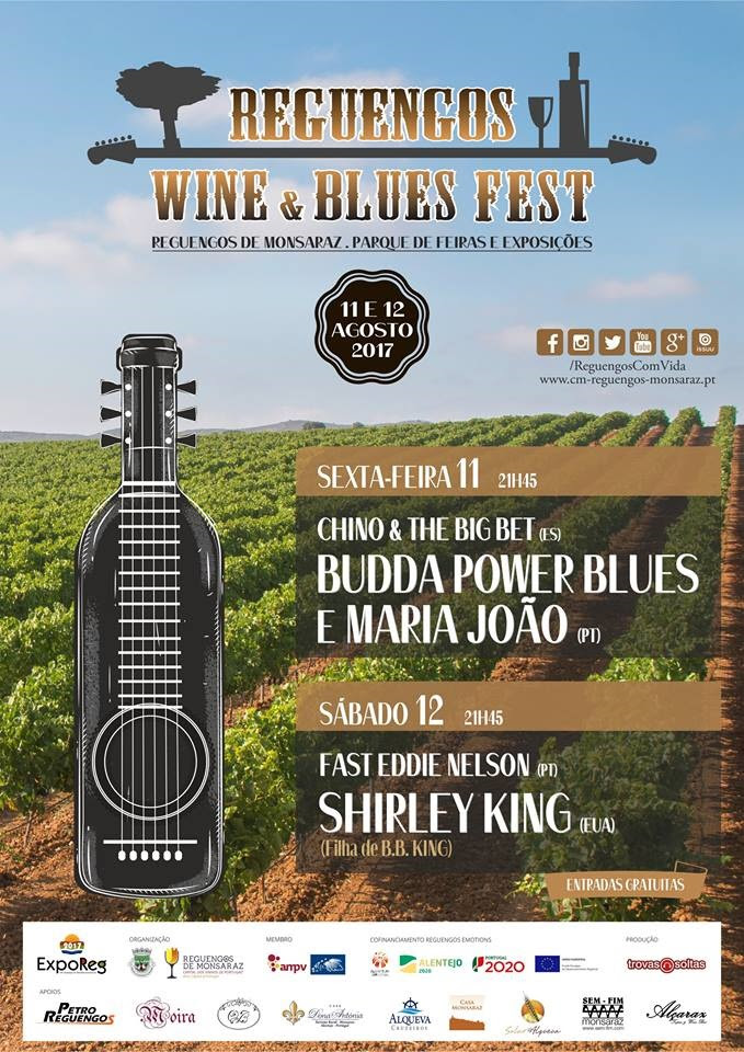 Cartaz Festival Reguengos Wine & Blues Fest