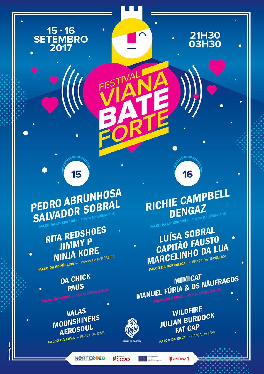 Cartaz 2017 Festival Viana Bate Forte