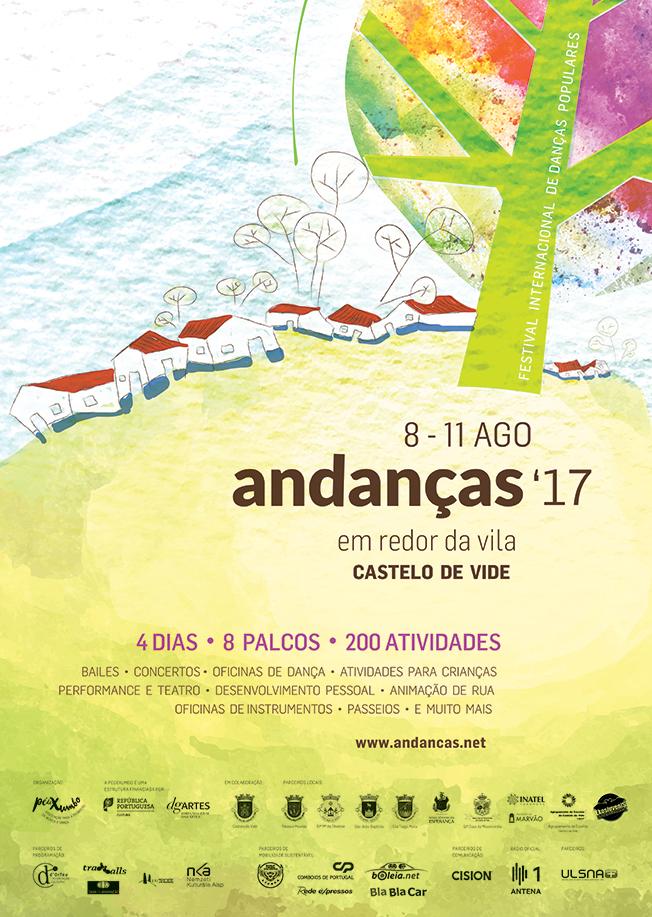 Cartaz festival Andanças 2017