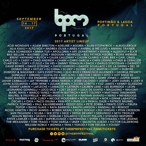 The BPM Festival Portugal 2017