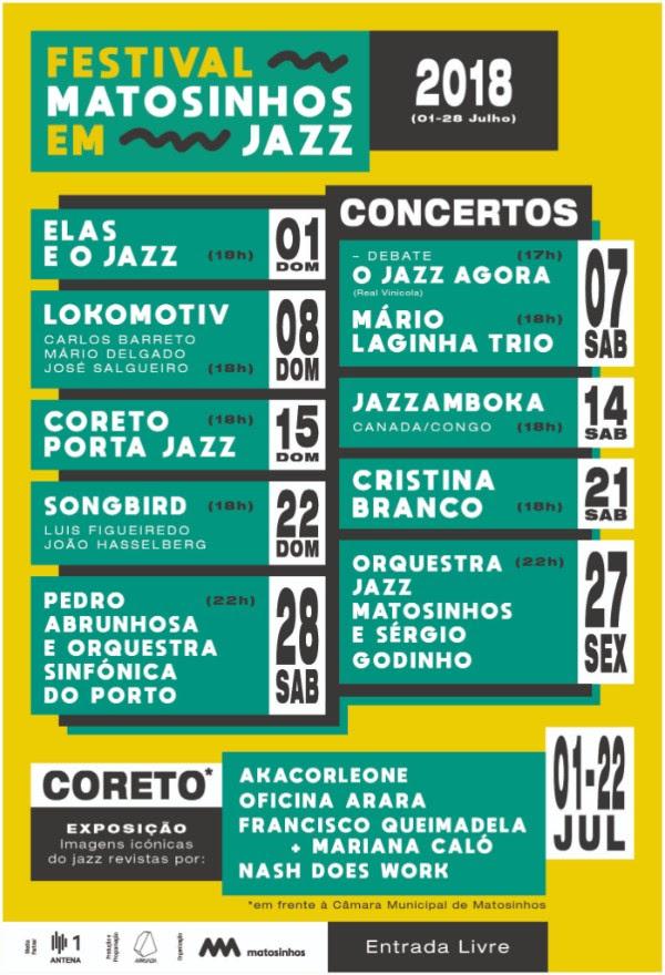Cartaz Festival Matosinhos em Jazz 2018