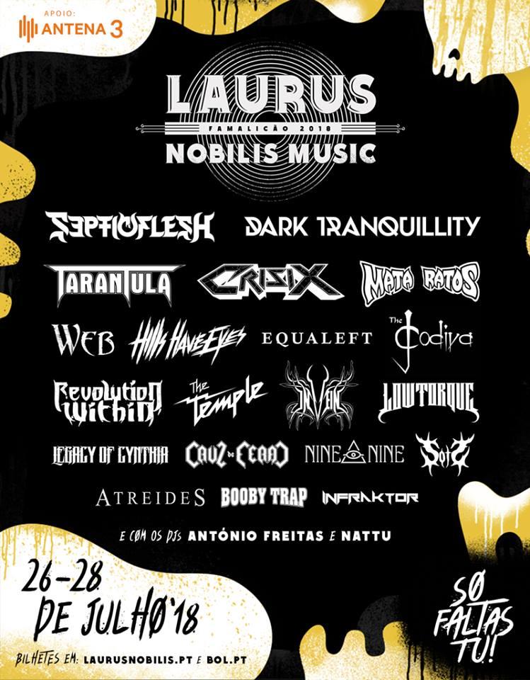 Cartaz Laurus Nobilis Music Famalicão 2018