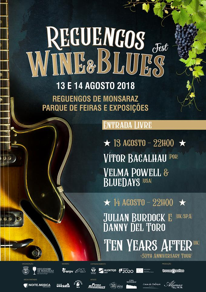 Cartaz Reguengos Wine & Blues Fest 2018