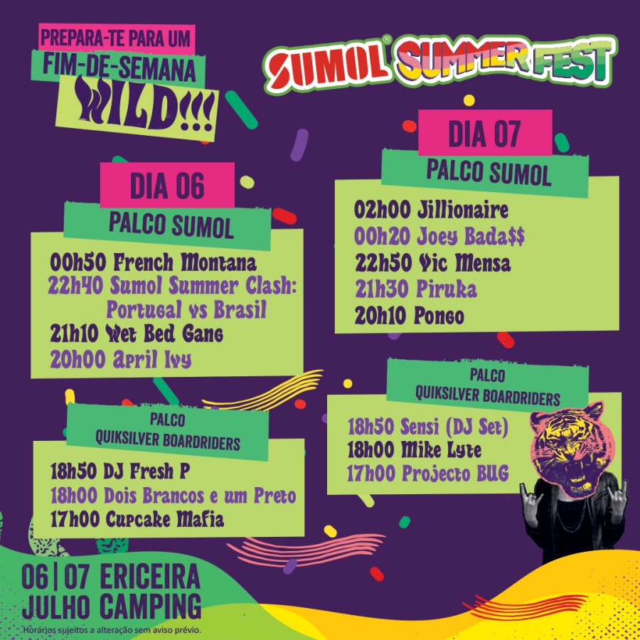 Cartaz Sumol Summer Fest 2018