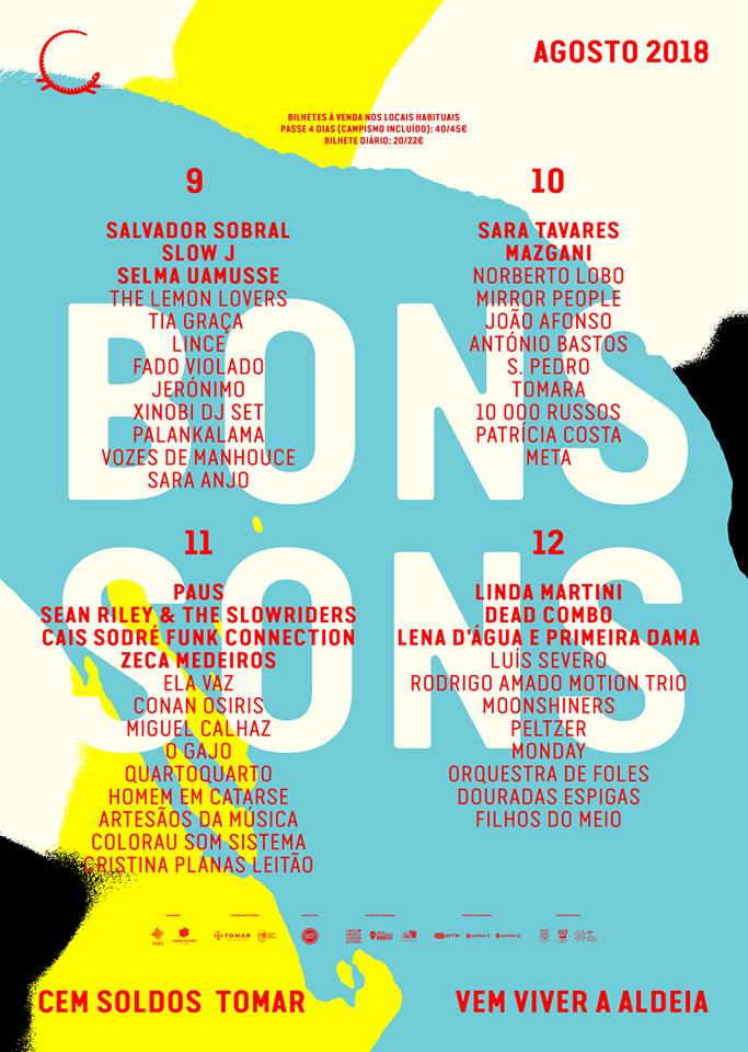 Cartaz Bons Sons 2018 - alinhamento