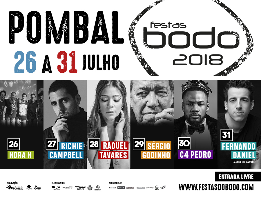Cartaz Festas do Bodo 2018 - Pombal