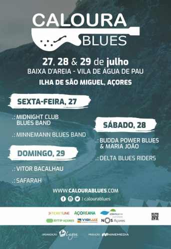 Cartaz Festival Caloura Blues 2018 - Açores