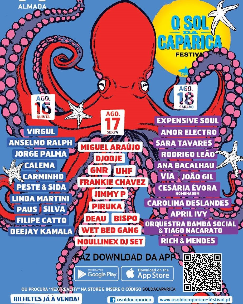 Cartaz Festival O Sol da Caparica 2018
