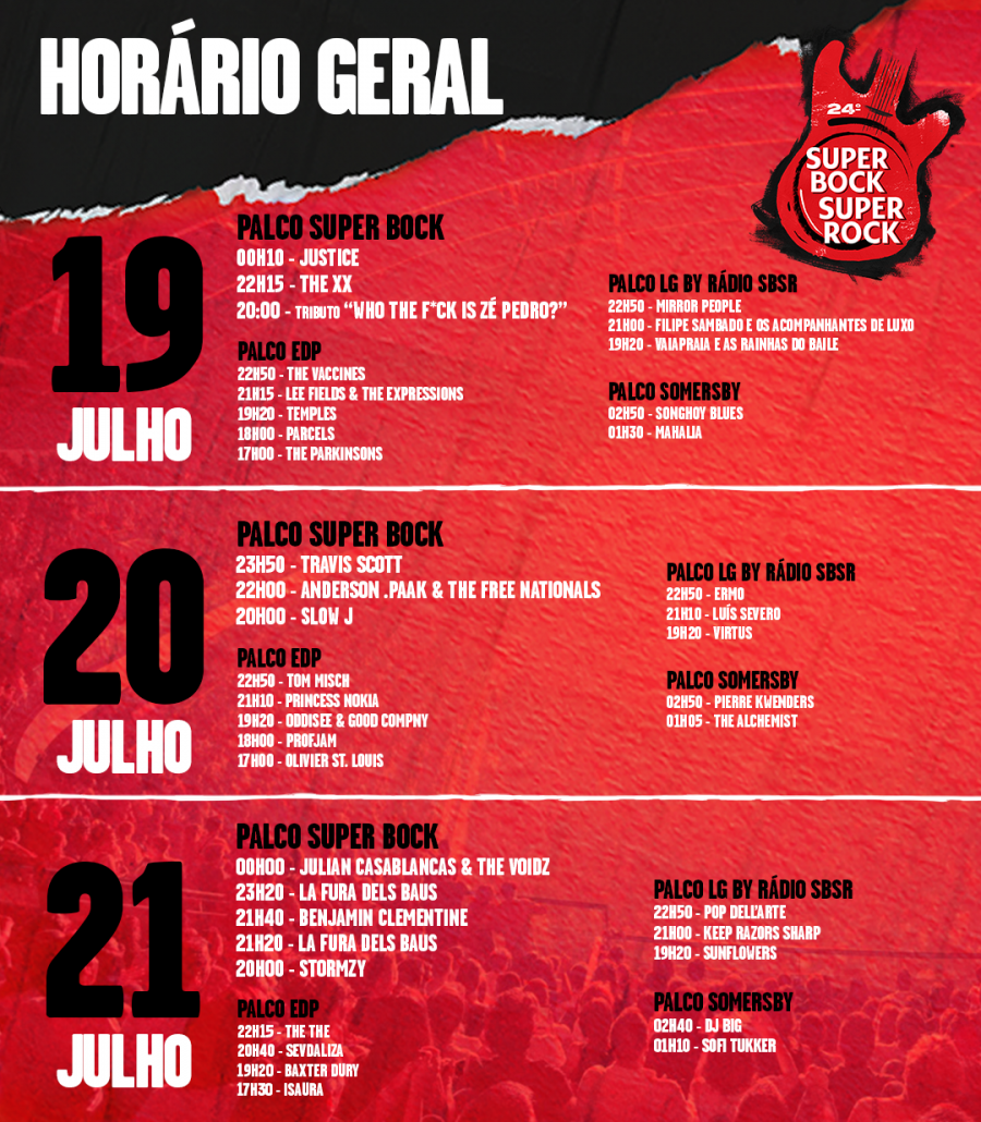 CARTAZ 2018 SUPER BOCK SUPER ROCK