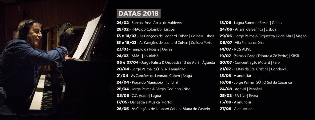 Concertos - Agenda - Espetáculos - Jorge Palma