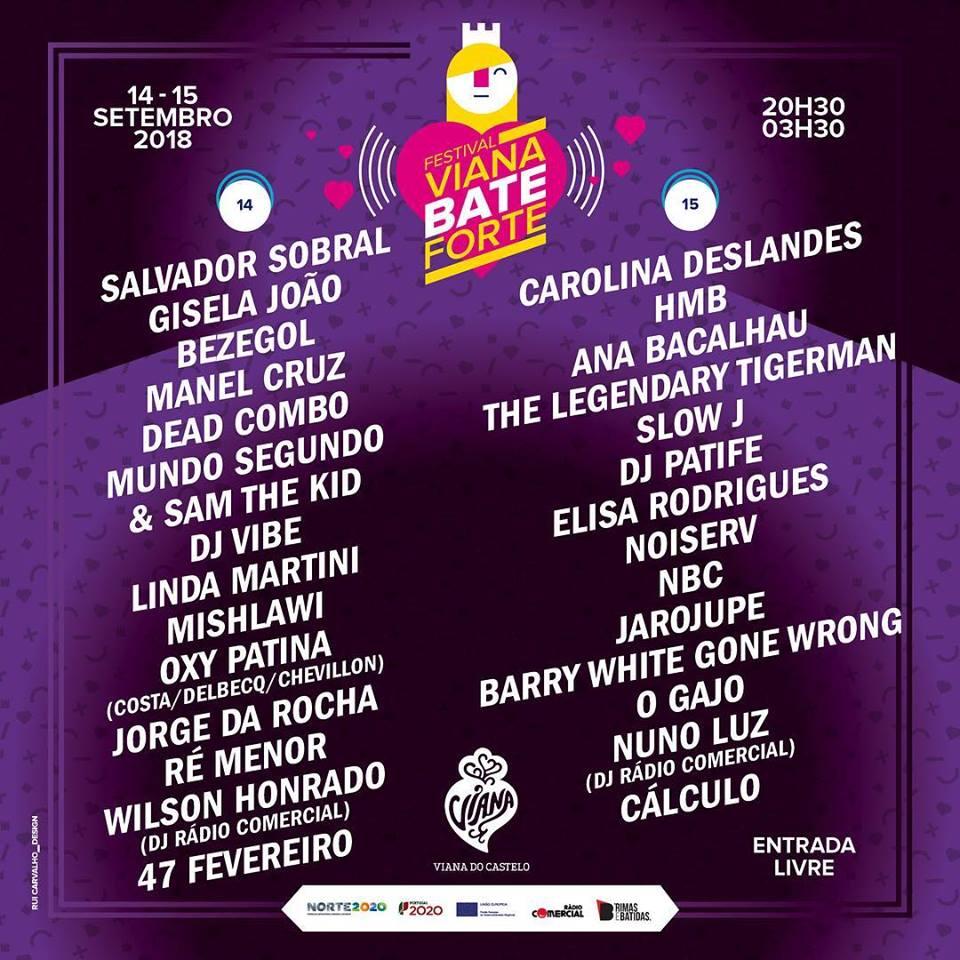 cartaz Viana Bate Forte 2018