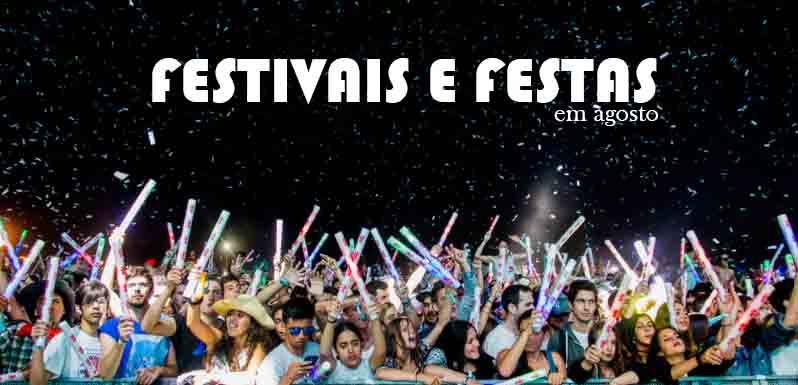 cartazes - roteiro festivais e festas em agosto