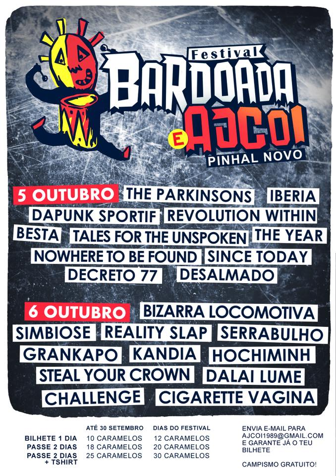 Cartaz Festival Bardoada & Ajcoi 2018 - Pinhal Novo