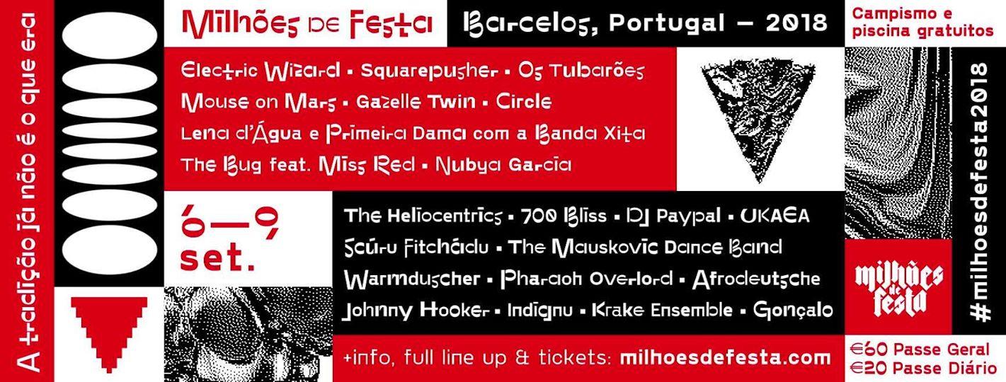 Cartaz Milhões de Festa 2018 - Barcelos