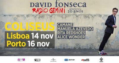 David Fonseca - RADIO GEMINI - concertos - 20 ANOS - Coliseus
