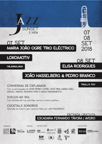 Festival - Cartaz 2018 - JAZZ, SUNSET E MEIA
