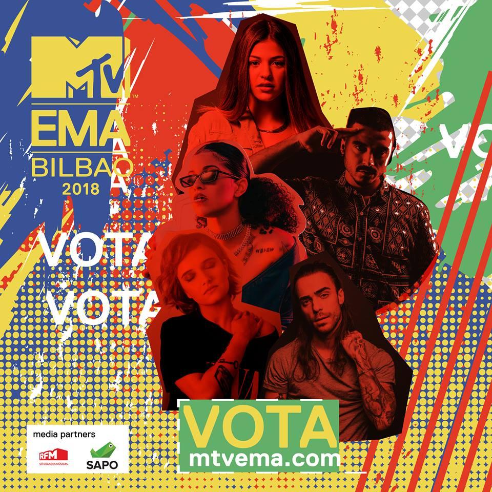 Bárbara Bandeira - Diogo Piçarra - Bispo - Carolina Deslandes - Blaya - MTV EMAs 2018 - Best Portuguese Act