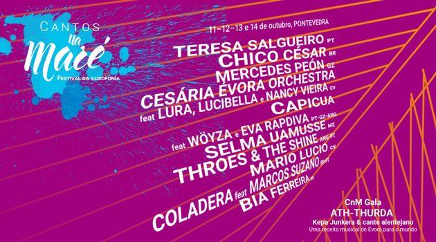Cartaz Festival Cantos na Maré - horários