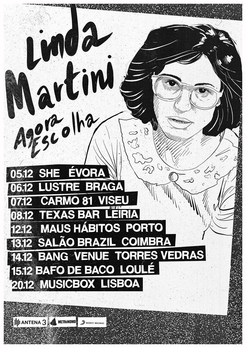 linda martini - agora escolha - concertos - tour