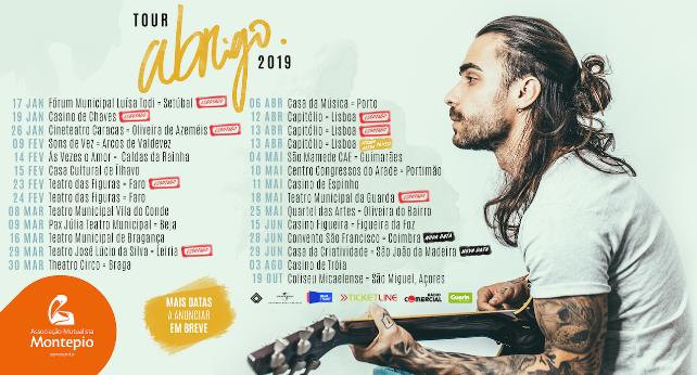 Diogo Piçarra - tour Abrigo - datas concertos