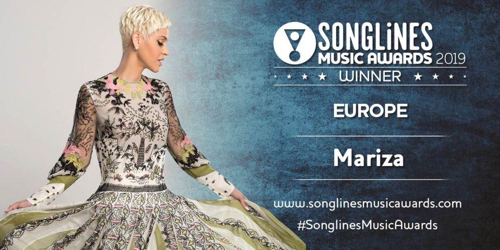 MARIZA - SONGLINES MUSIC AWARDS 2019