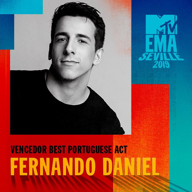 Fernando Daniel - Best Portuguese Act - MTV Europe Music Awards 2019