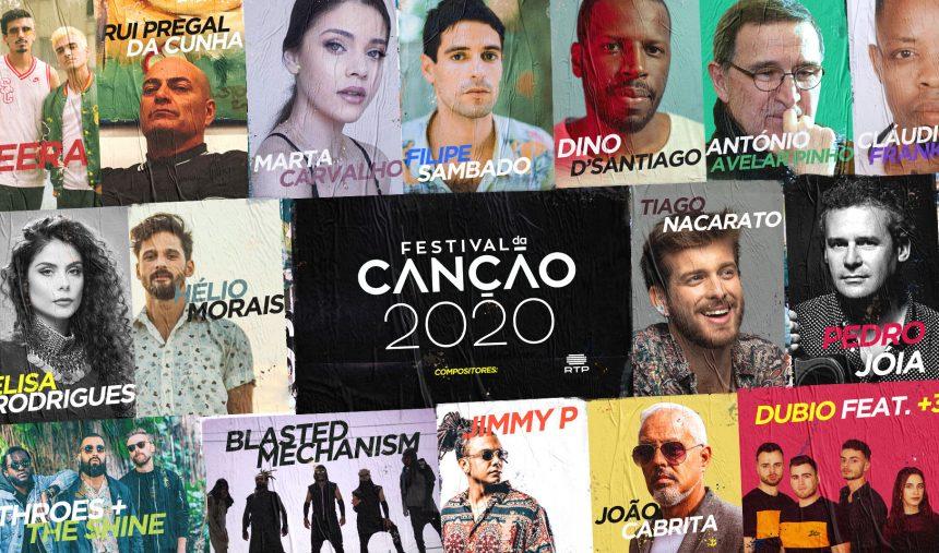 compositores - Festival da Canção 2020